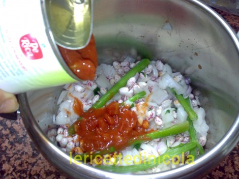cucina,ricetta,ricette,zuppe,ricetta vegetariana,cottura pentola a pressione,ricetta fotografata,zuppa estiva,fagiola pasta,