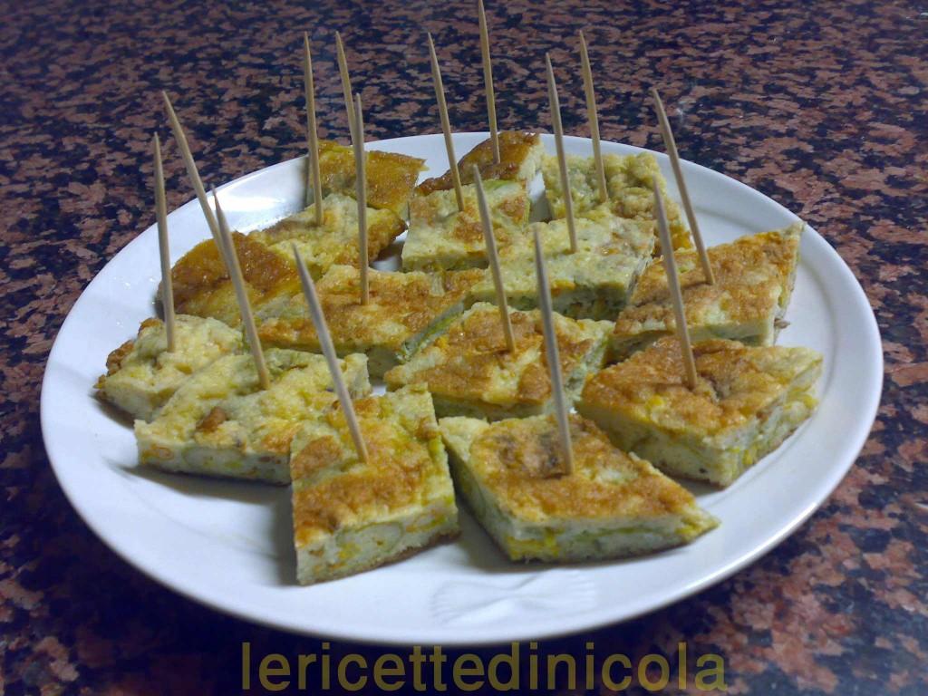cucina,ricetta,ricette,frittate,fiori di zucca,ricette fotografate,ricetta