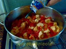 cucina,ricetta,ricette,ricette pollo,ricette in agrodolce,ricette fotografate,ricette con peperoni,