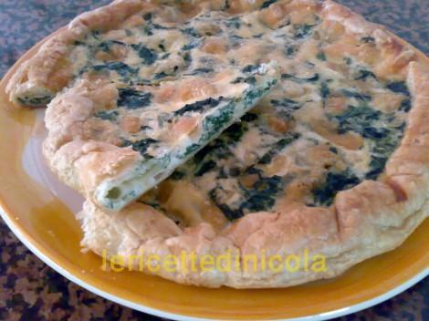 cucina,ricetta,ricette,torte salate,ricette con pasta sfoglia,ricetta spinaci e mozzarella,ricetta fotografata,scuola di cucina,