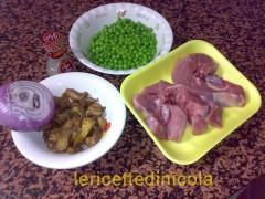 cucina,ricetta,ricette,ricetta tacchino,ricetta con carciofi,ricetta con piselli,ricetta fotografata,