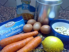 cucina,ricetta,ricette,dolci,torte,dolce di carote,ricetta fotografata,dolce per la merenda,ricetta con carote,