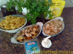 cucina,ricetta,ricette,ricette pasta,ricette primi piatti,ricette fotografate,ricette con gamberi,ricette cozze,