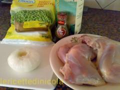 cucina,ricetta,ricette,ricette pollo,ricette secondi piatti,ricette con piselli,ricette fotografate,ricette cotto e mangiato,