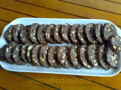 cucina,ricetta,ricette,ricetta salame cioccolato,ricette di dolci,ricette fotografate,dolci casalinghi,cucina italiana,ricette con cioccolato,