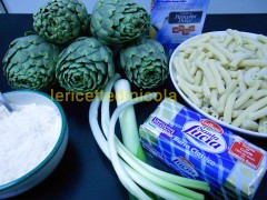cucina,ricetta,ricette,primi piatti,pasta casereccia,ricetta con carciofi,ricette fotografate,