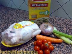 cucina,ricetta,ricette,ricette di riso,ricette con pollo,piatti unici,ricette fotografate,ricette tradizione siciliana,ricette timballo,