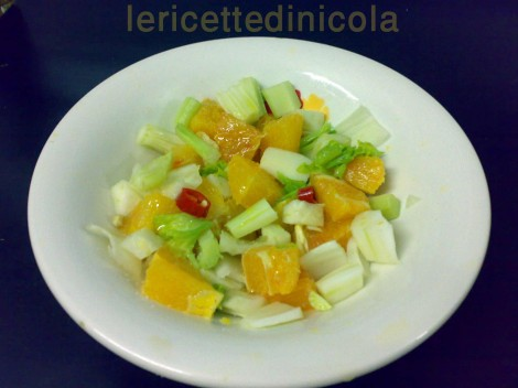 cucina,ricetta,ricette,ricette insalate,ricetta con arance,ricette siciliane,ricette vegetariane,